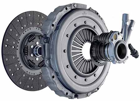 Exploded view of car clutch system