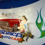 Custom art work designs on car panels