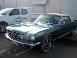 Ford Mustang resprayed with panel repairing