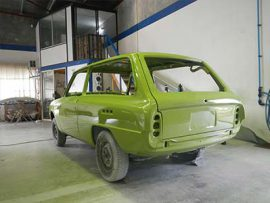 mazda 1600 with custom green respray