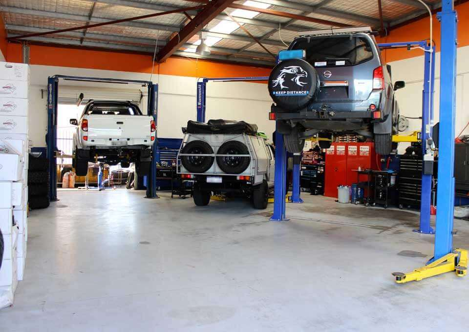 Inside view of Sharpautocare auto workshop