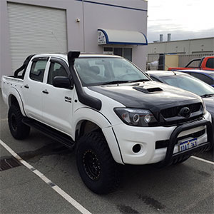 Hilux lift, wheel and tyre combo + accessories
